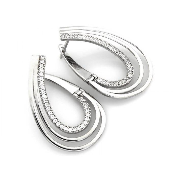 Duże srebrne kolczyki cyrkonie