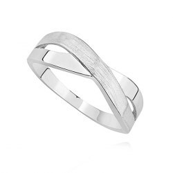 Skrzyżowany srebrny pierścionek