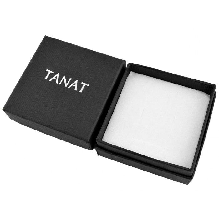 Srebrny komplet emaliowane liście + pudełko
