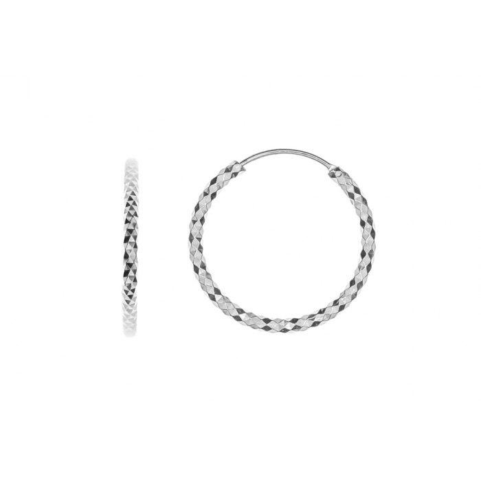 Srebrne kolczyki diamentowane koła 3,5 cm