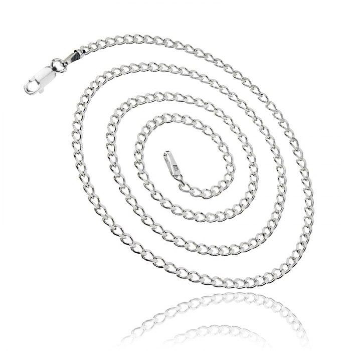 Srebrny łańcuszek 50 cm Pancerka