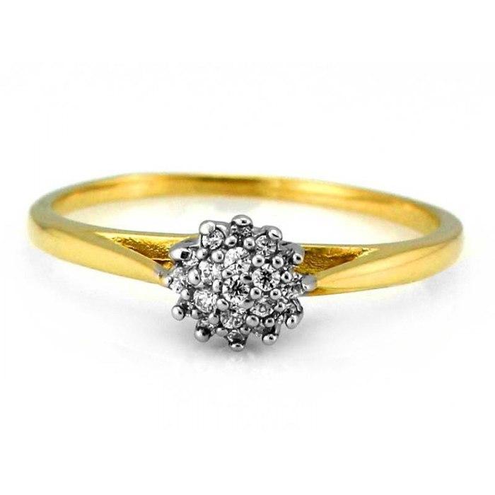 Cudny złoty 333 zaręczynowy pierścionek pudełko