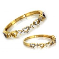 Złoty 333 pierścionek serduszka + pudełko