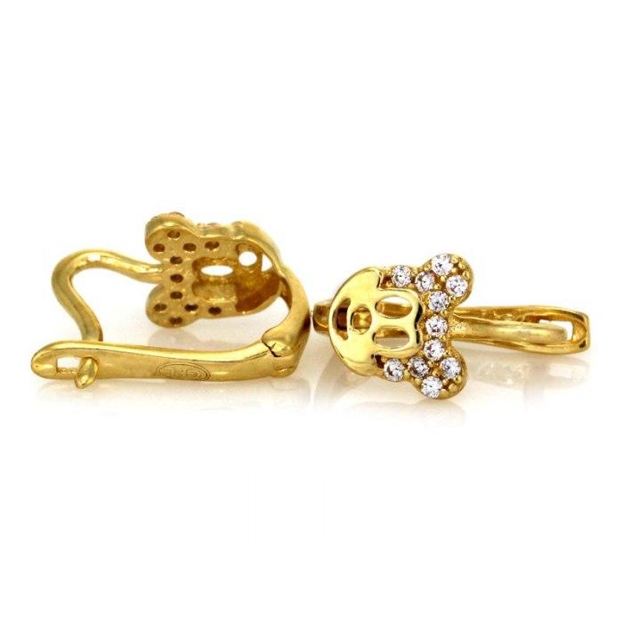 Złote 333 kolczyki Myszka Miki