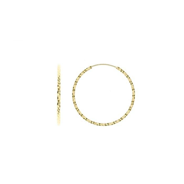 Pozłacane kolczyki diamentowane koła 3,5 cm