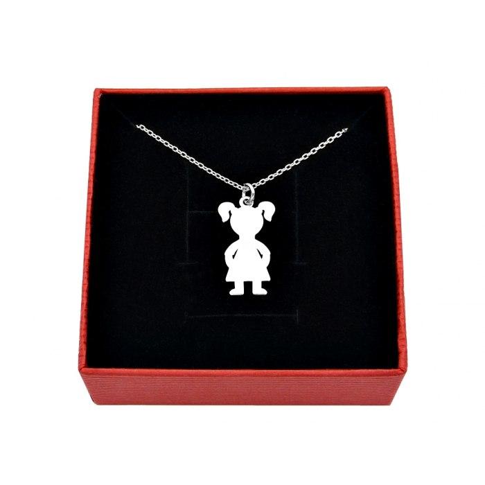 Srebrny naszyjnik dziecko dziewczynka + pudełko