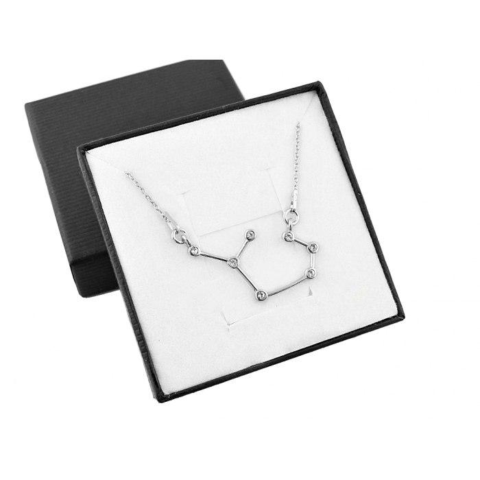Srebrny naszyjnik znak zodiaku konstelacja strzelec