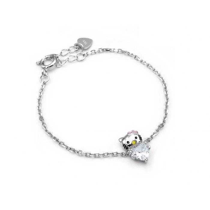 Dziecięce srebrna bransoletka Hello Kitty