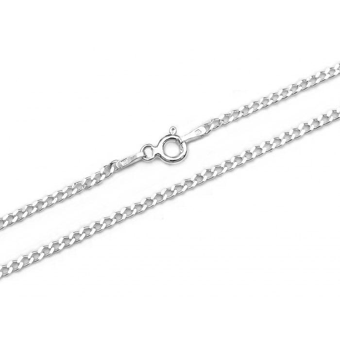 Srebrny łańcuszek 60 cm Pancerka 050