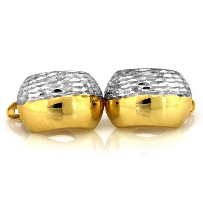 Grube złote 333 kolczyki diamentowane