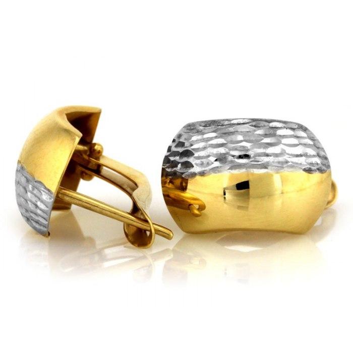 Grube złote 333 kolczyki diamentowane pudełko