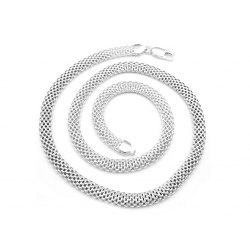 Gruby srebrny naszyjnik tuba 6 mm