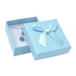 Pudełko 6x6x2,5 cm niebieskie w kropki