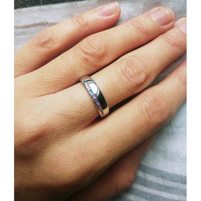 Srebrna pierścionek z kolorowymi cyrkoniami mix