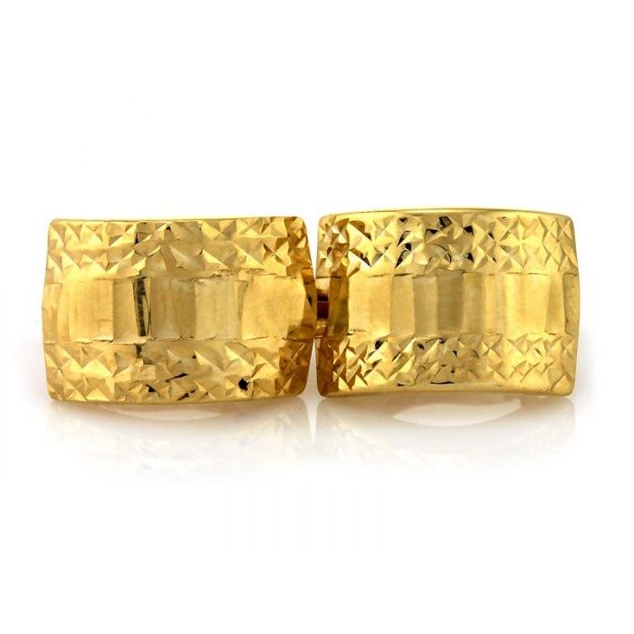 Grube złote 333 kolczyki diamentowane + pudełko