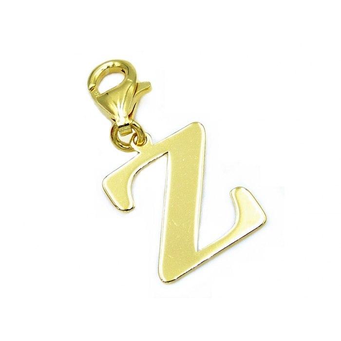 Pozłacany charms przywieszka literka Z