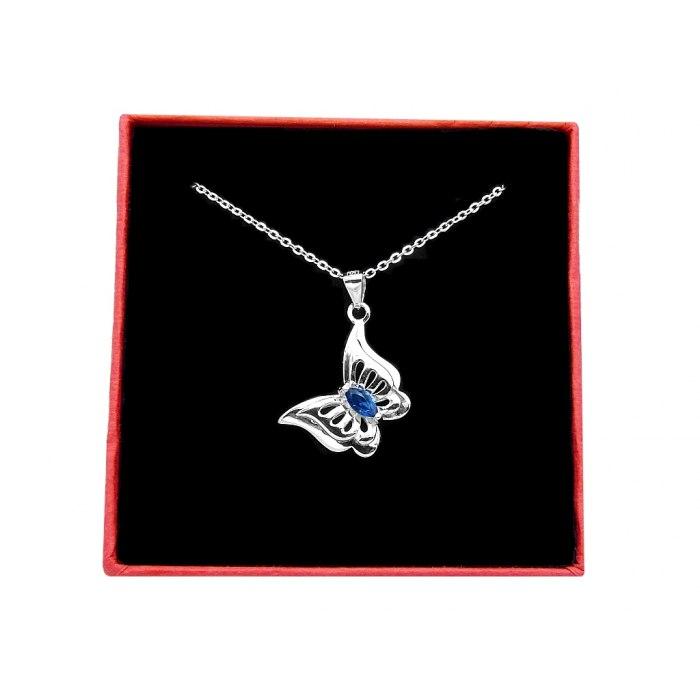Srebrny naszyjnik czterolistna koniczynka z cyrkoniami