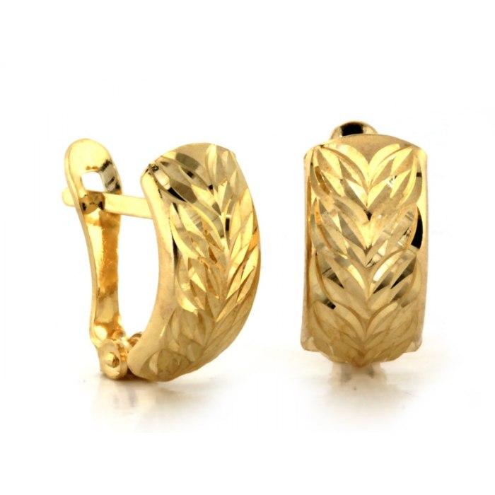 Diamentowane złote kolczyki 585