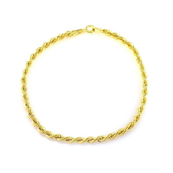 Złota 585 skręcana bransoletka