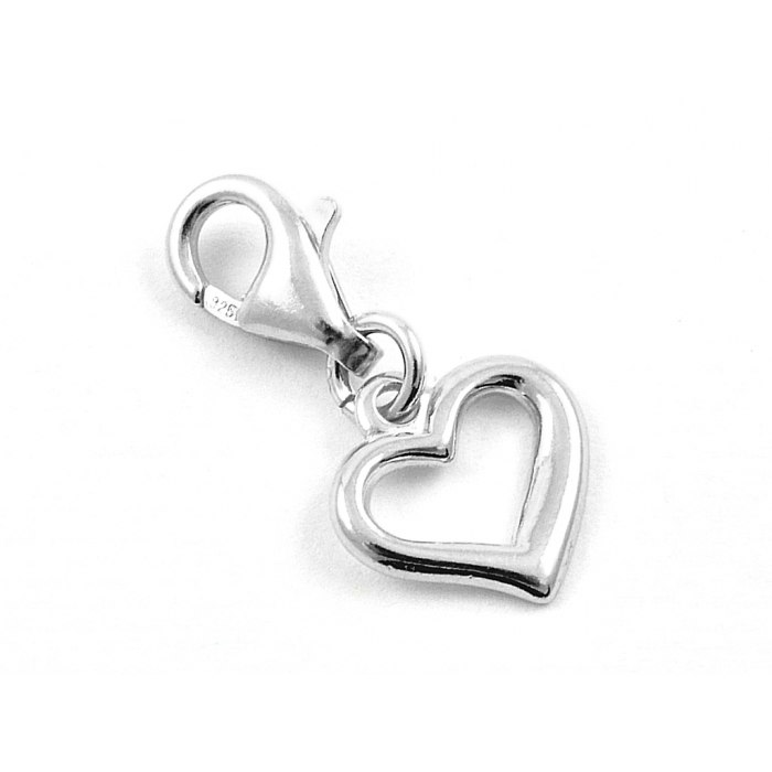 Srebrny charms serce serduszko