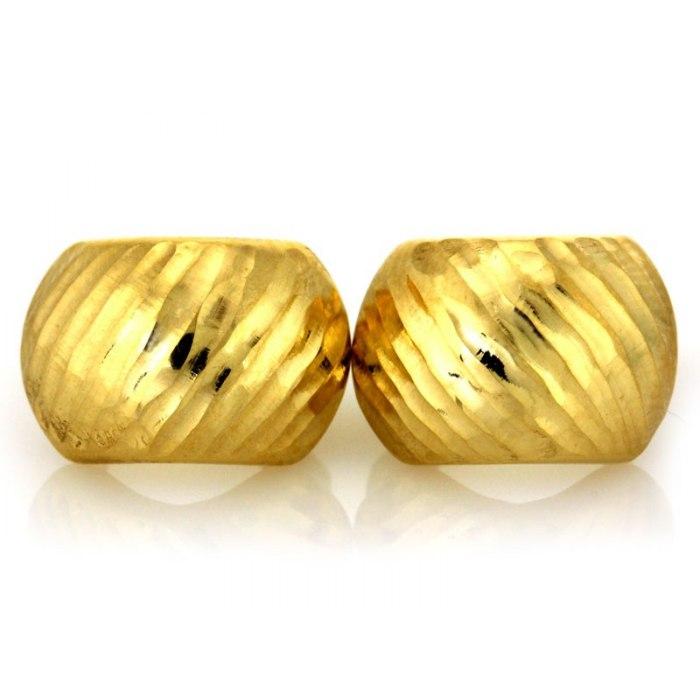 Efektowne złote kolczyki 333 diamentowane