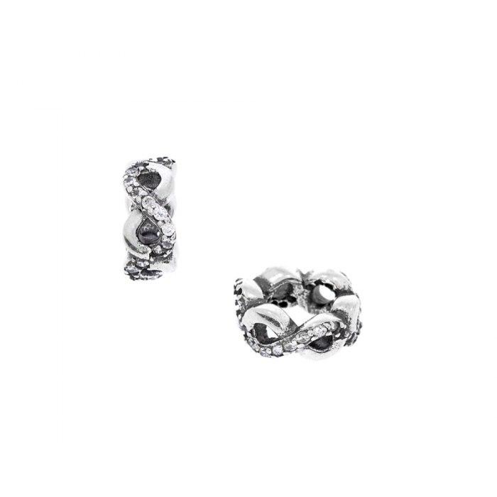 Srebrny koralik modułowy Beads infinity