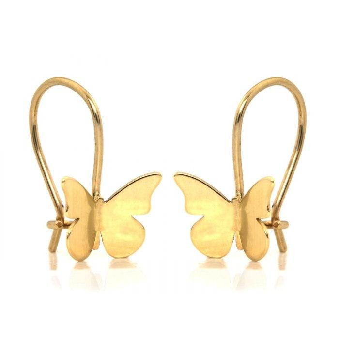 Złote kolczyki 585 motylki motyle