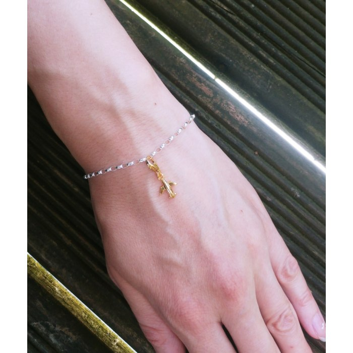 Srebrna 925 bransoletka rolo baza charms 17,5cm
