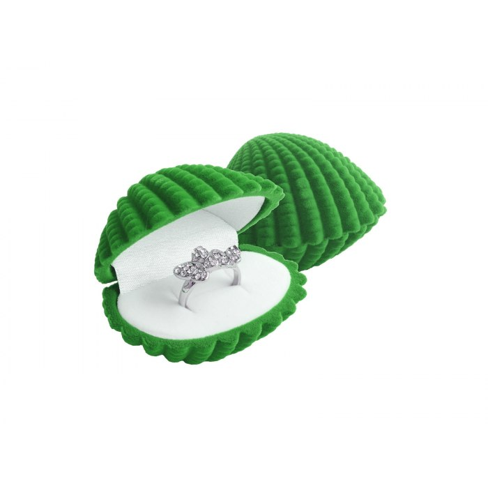 Welurowa zielona muszla